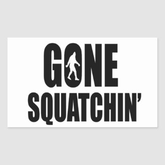 Gone Squatchin' Rectangular Sticker