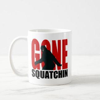 Gone Squatchin (Red & Black) Basic White Mug