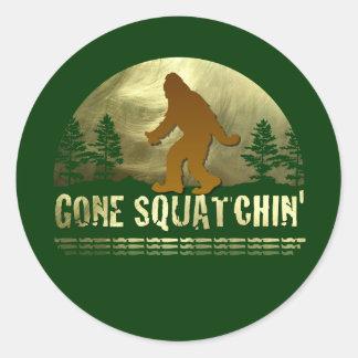 Gone Squatchin' Round Sticker