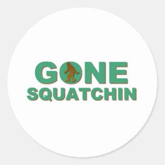 Gone Squatchin Round Sticker