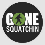 Gone Squatchin Round Stickers