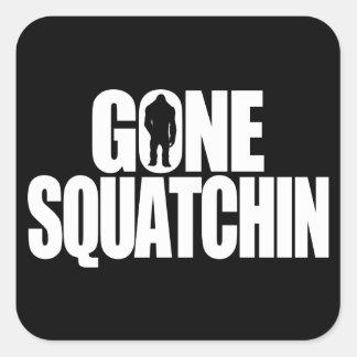 Gone Squatchin Square Sticker