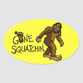 Gone Squatchin Oval Stickers