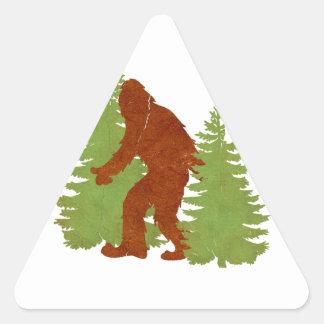 Gone Squatchin Triangle Stickers