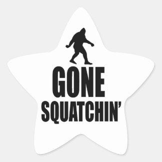 Gone Squatchin' Star Sticker