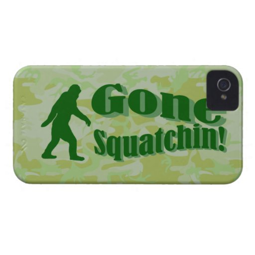 Gone Squatchin text on green camouflage iPhone 4 Case-Mate Case