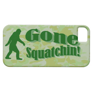 Gone Squatchin text on green camouflage iPhone 5 Covers