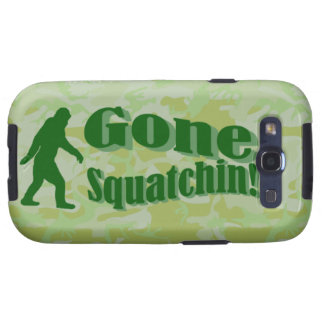 Gone Squatchin text on green camouflage Galaxy SIII Case