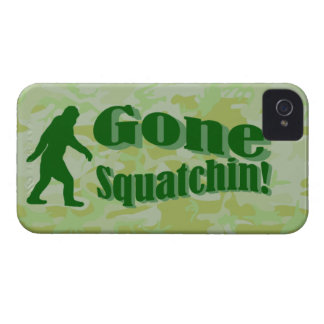 Gone Squatchin text on green camouflage iPhone 4 Covers
