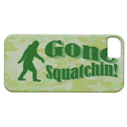 Gone Squatchin text on green camouflage iPhone 5 Case
