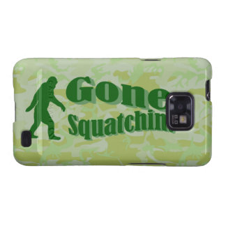 Gone Squatchin text on green camouflage Samsung Galaxy S Case