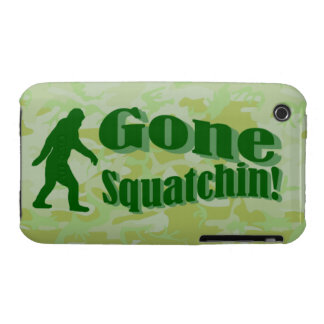 Gone Squatchin text on green camouflage iPhone 3 Case-Mate Case