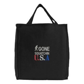 Gone Squatchin U.S.A Canvas Bag