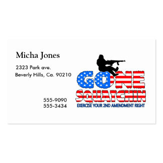 Gone Squatchin USA Pack Of Standard Business Cards