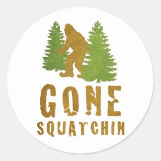 Gone Squatchin (Vintage) Classic Round Sticker
