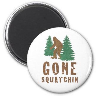 Gone Squatchin Vintage Fridge Magnet