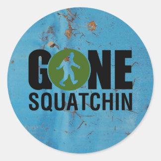 Gone Squatchin Vintage Stickers
