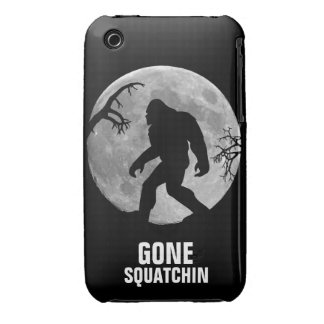 Gone Squatchin with moon and silhouette iPhone 3 Case