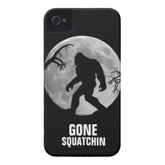 Gone Squatchin with moon and silhouette iPhone 4 Cases