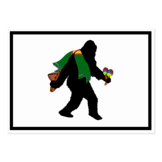 Gone  Squatchin' With Serape Pack Of Chubby Business Cards