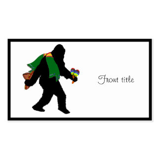 Gone  Squatchin' With Serape Double-Sided Standard Business Cards (Pack Of 100)