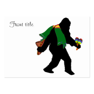 Gone  Squatchin' With Serape Large Business Cards (Pack Of 100)