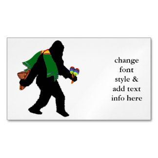 Gone  Squatchin' With Serape Magnetic Business Cards