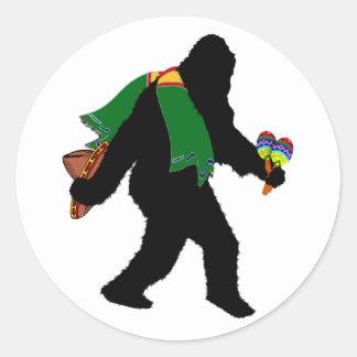 Gone  Squatchin' With Serape Round Sticker