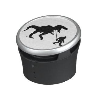 Gone Squatchin with T-rex Bluetooth Speaker