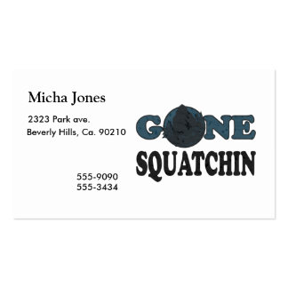 Gone Squatchin Yeti In Woods Pack Of Standard Business Cards