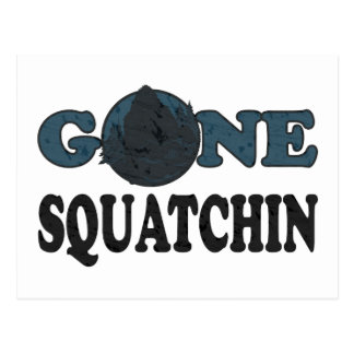 Gone Squatchin Yeti In Woods Postcard