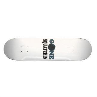 Gone Squatchin Yeti In Woods Skateboard Deck