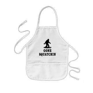 Gone Squatching, Finding Bigfoot, Squatch Kids Apron