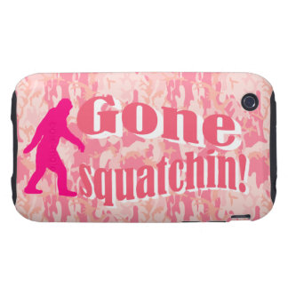 Gone Squatching on pink camouflage iPhone 3 Tough Cover