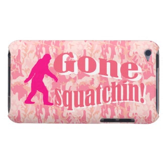 Gone Squatching on pink camouflage iPod Case-Mate Cases