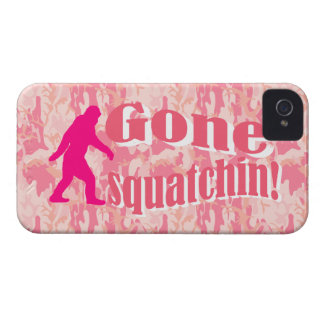 Gone Squatching on pink camouflage iPhone 4 Cover