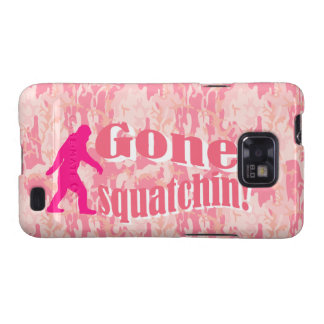 Gone Squatching on pink camouflage Galaxy S2 Cover