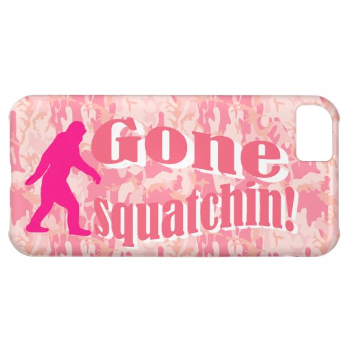 Gone Squatching on pink camouflage Case For iPhone 5C