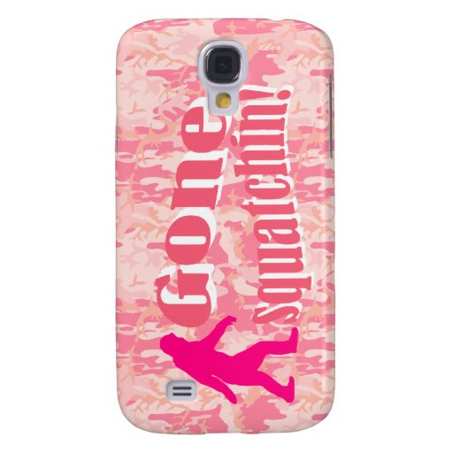 Gone Squatching on pink camouflage Samsung Galaxy S4 Case