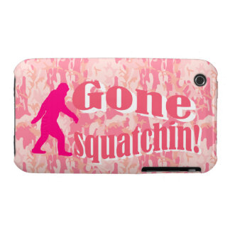 Gone Squatching on pink camouflage iPhone 3 Case-Mate Case