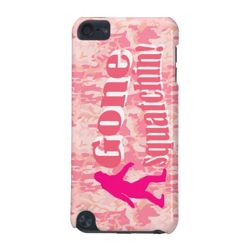 Gone Squatching on pink camouflage iPod Touch (5th Generation) Cases