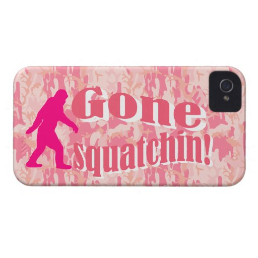 Gone Squatching on pink camouflage Case-Mate iPhone 4 Case
