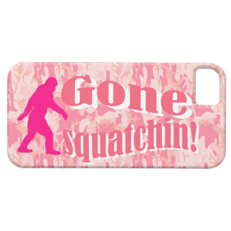 Gone Squatching on pink camouflage iPhone 5 Cases