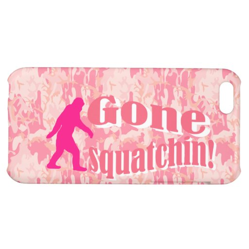 Gone Squatching on pink camouflage iPhone 5C Cases