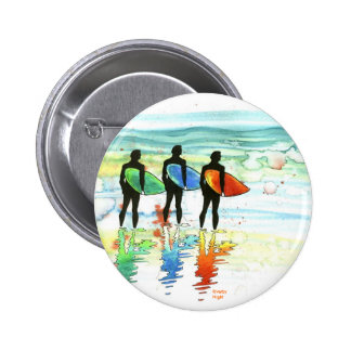 Gone Surfing v.1 6 Cm Round Badge