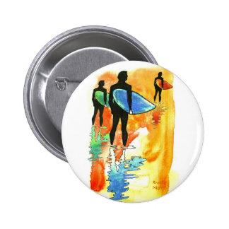 Gone Surfing v.2 6 Cm Round Badge