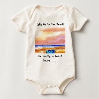 Gone Swimming Beach Baby - CricketDiane Ocean Art Romper
