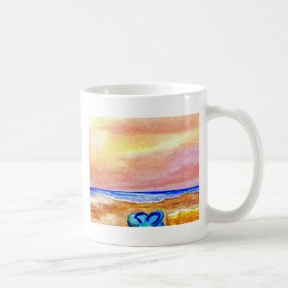 Gone Swimming Beach Ocean Surf Waves Sandals Basic White Mug