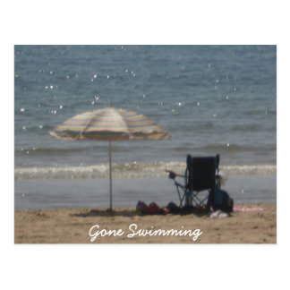 Gone Swimming Postcard