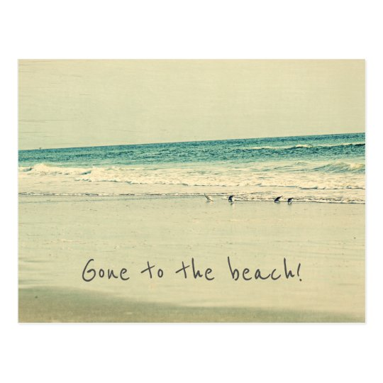 Gone to the beach! Change of Address Postcards
